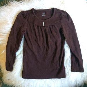 Gymboree brown longsleeved top